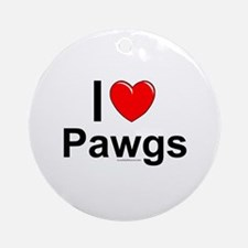 Pawgs Round Ornament