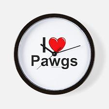 Pawgs Wall Clock