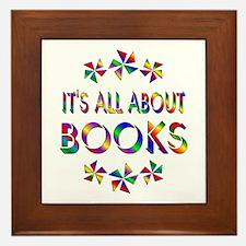 All About Books Framed Tile