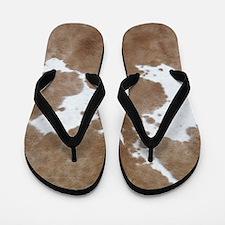 Cowhide Flip Flops