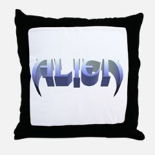 """""""Alien"""" Ice Throw Pillow"""