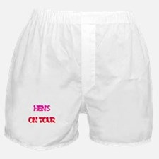 hens on tour Boxer Shorts