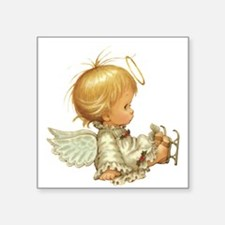 Cute Christmas Baby Angel Skating Accident Sticker