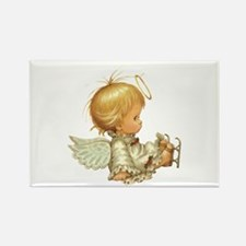 Cute Christmas Baby Angel Skating Accident Magnets