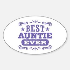 Best Auntie Ever Sticker (Oval)