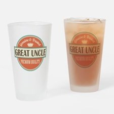 Great Uncle gift idea Drinking Glass
