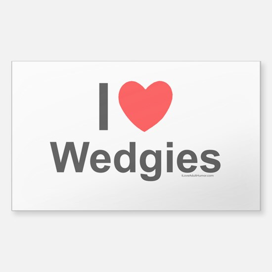 Wedgies Sticker (Rectangle)