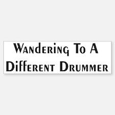 Drummer Bumper Bumper Bumper Sticker