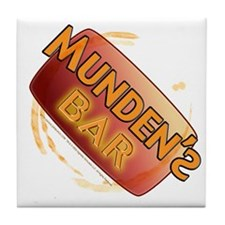 Munden's Bar stained Tile Coaster (alt)