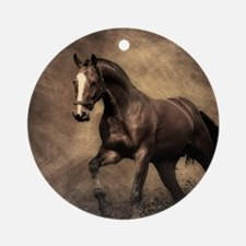 Beautiful Brown Horse Round Ornament