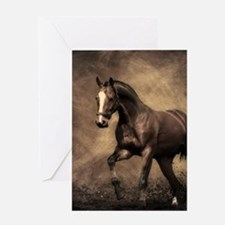 Beautiful Brown Horse Greeting Cards