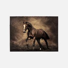 Beautiful Brown Horse 5'x7'Area Rug
