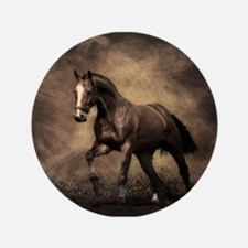 """Beautiful Brown Horse 3.5"""" Button (100 pack)"""