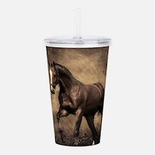 Beautiful Brown Horse Acrylic Double-wall Tumbler