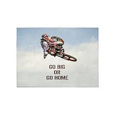 Motocross Rider 5'x7'Area Rug