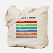 6 Phases of a Project Tote Bag