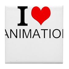 I Love Animation Tile Coaster