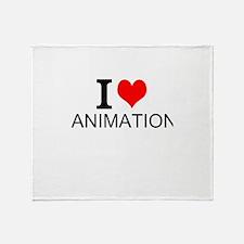 I Love Animation Throw Blanket