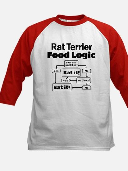 Rat Terrier Food Kids Baseball Jersey