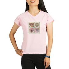 4 Hearts Cross-Stit... Performance Dry T-Shirt