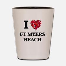 I love Ft Myers Beach Florida Shot Glass