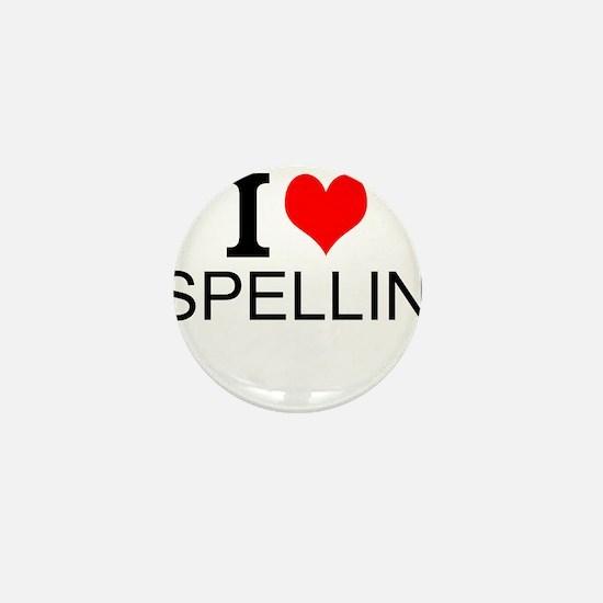 I Love Spelling Mini Button