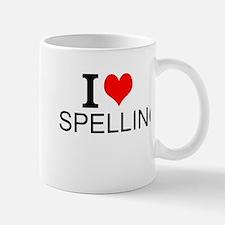 I Love Spelling Mugs