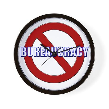 No Bureaucracy! Wall Clock