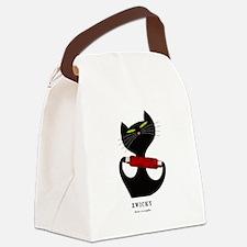 black cat thread Canvas Lunch Bag