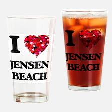I love Jensen Beach Florida Drinking Glass
