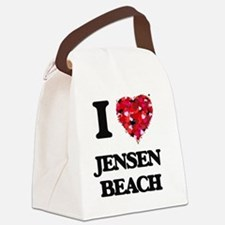 I love Jensen Beach Florida Canvas Lunch Bag