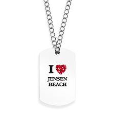I love Jensen Beach Florida Dog Tags