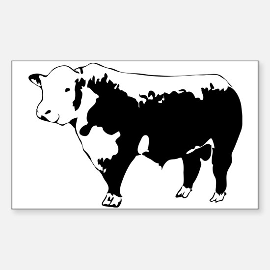 Cute Cow Sticker (Rectangle)