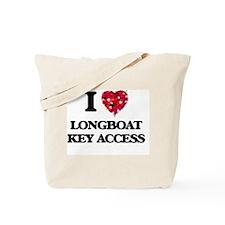 I love Longboat Key Access Florida Tote Bag