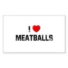 I * Meatballs Rectangle Decal