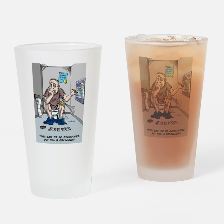 Cute Knee replacement Drinking Glass