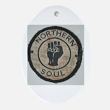 Cute Soul music Oval Ornament