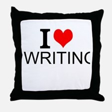 I Love Writing Throw Pillow