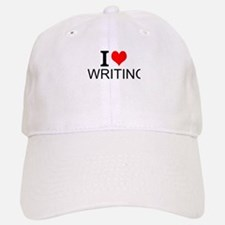 I Love Writing Baseball Baseball Baseball Cap