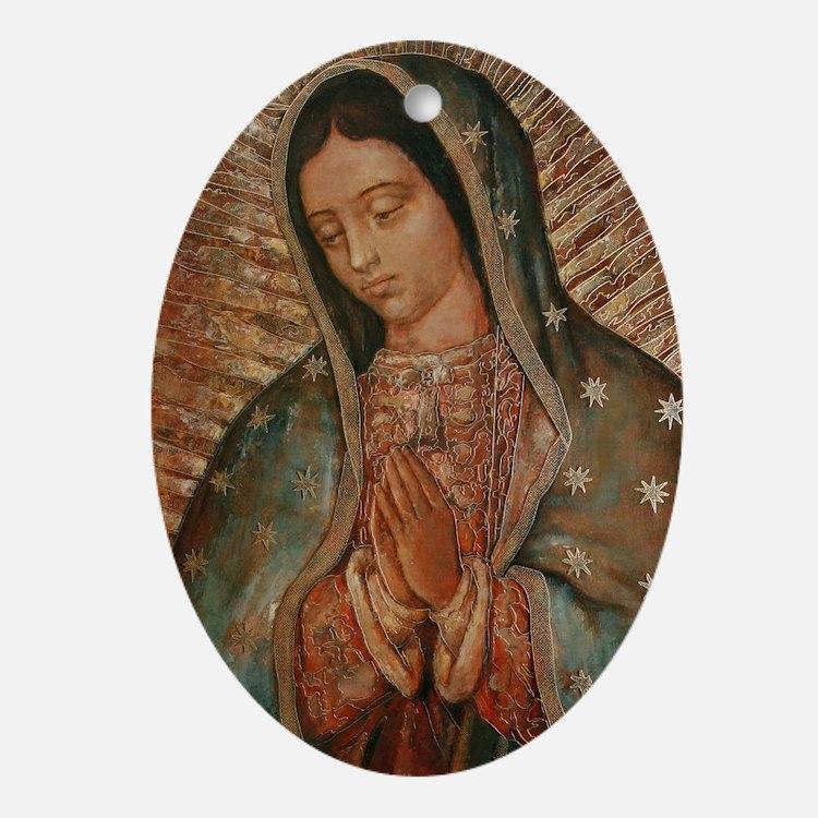 Cute Virgin mary Oval Ornament