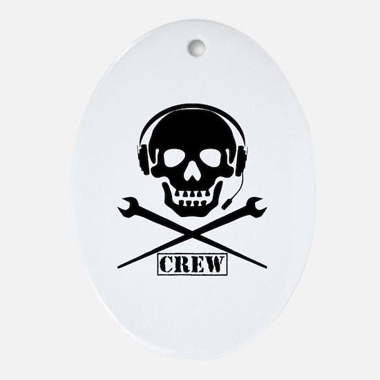 Funny Crew Oval Ornament