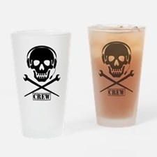 Funny Crew Drinking Glass