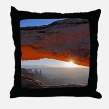 Cute Red sunrise Throw Pillow