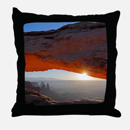 Cool Canyonlands Throw Pillow