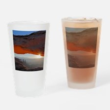 Funny Red sunrise Drinking Glass