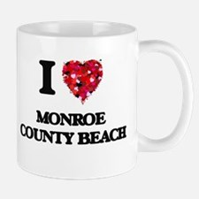 I love Monroe County Beach Florida Mugs