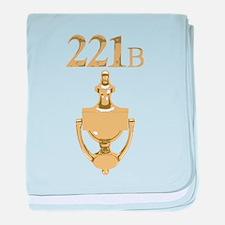 221B Baker Street - Sherlock Holmes baby blanket