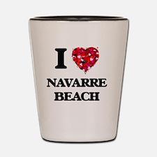 I love Navarre Beach Florida Shot Glass