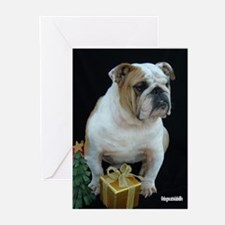 Funny English bulldog lover Greeting Cards (Pk of 20)