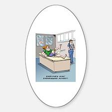 Unique Knee surgery Sticker (Oval)
